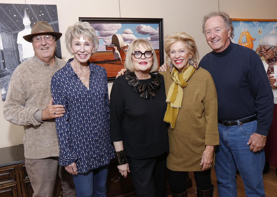 Photo - Bob and Ann Gilliland, Joy Reed Belt, Beth and Jim Hammack. PHOTO BY DOUG HOKE, THE OKLAHOMAN