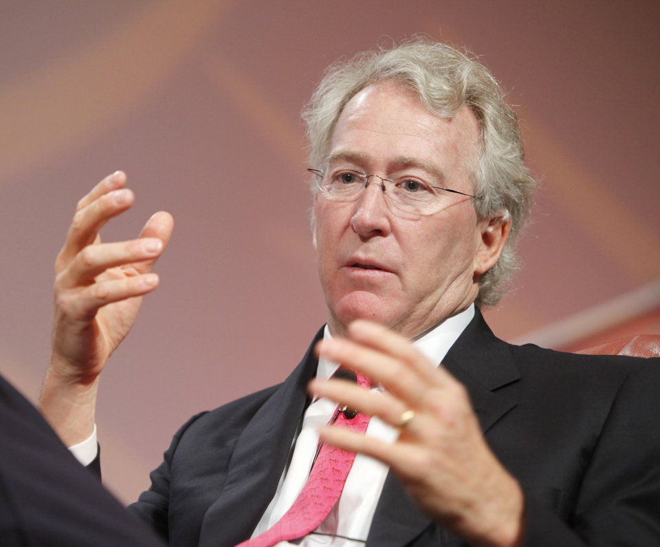 Photo - FILE - Aubrey McClendon speaks at an energy conference in 2010. Photo by Steve Gooch / NewsOK