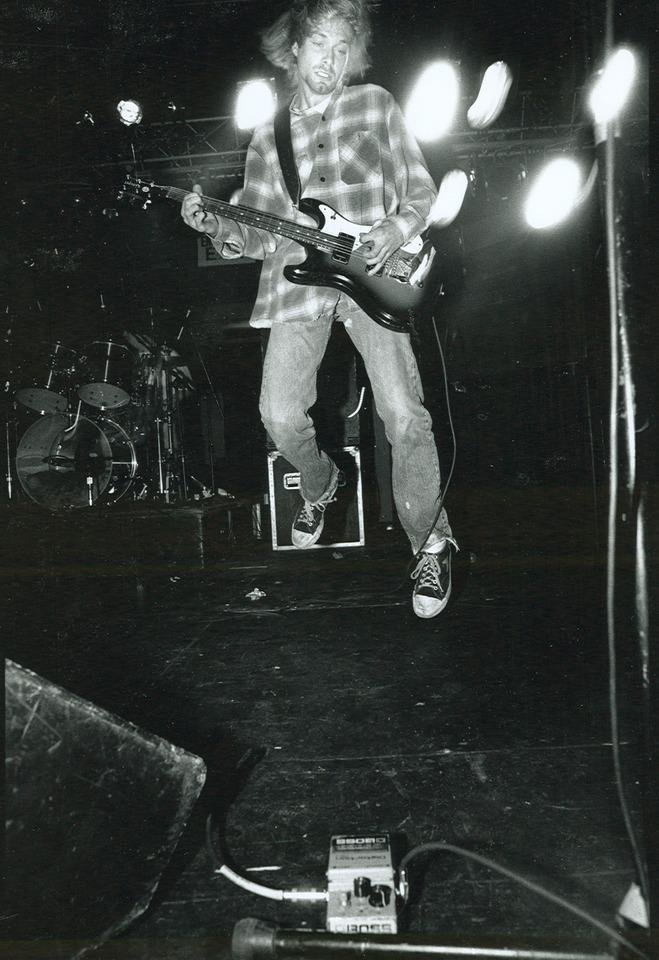 Photo -  Nirvana performing live. Frontman Kurt Cobain would've turned 50 this week. His birthday was Monday. [Photo provided by Sub Pop Records]