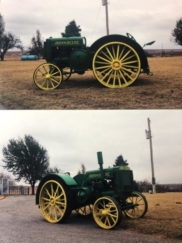 Photo -  A restored 1929 John Deere tractor is one of the items that will be auctioned off at Corn Bible Academy's 56th annual German Feast and Auction in Corn. [Photo provided]