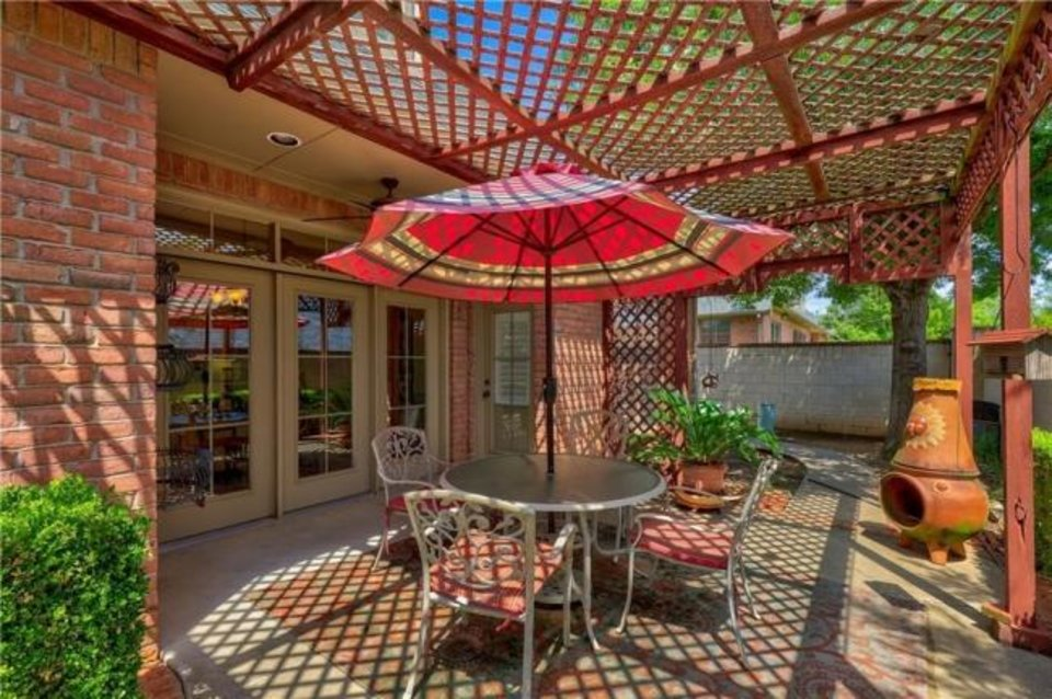 Photo -  Back patio at 3040 NW 160, the Listing of the Week. [PHOTO PROVIDED]