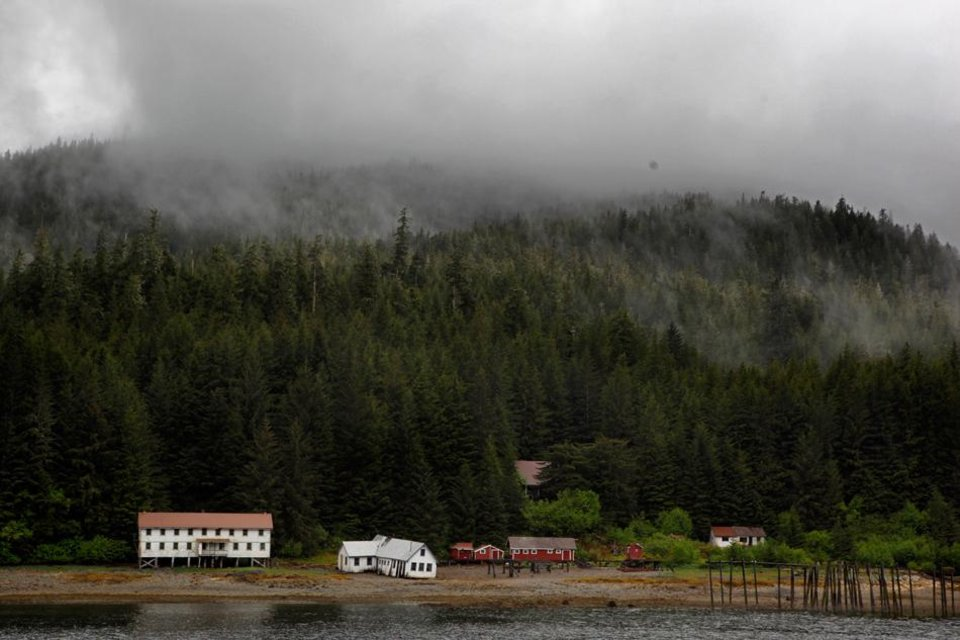 Photo -  An old cannery sits on shore of Sitkoh Bayin Southeast Alaska, Friday, June 8, 2012.  Photo by Sarah Phipps, The Oklahoman