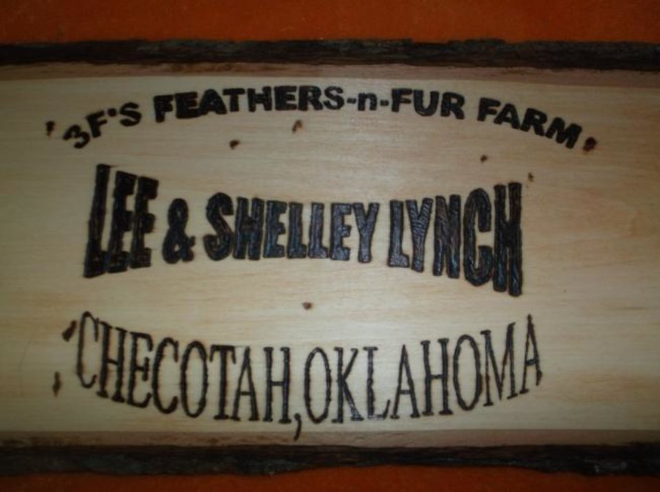 Photo -  Shelley McBride Lynch and her husband, Lee, established the 3F's Feathers-n-Fur Farm in about 2011. [PROVIDED]