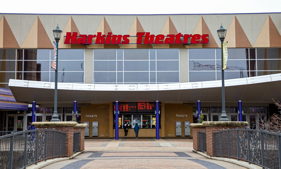 Photo - Exterior of Harkins Theater in Oklahoma City, Okla. on Monday, March 16, 2020.    [Chris Landsberger/The Oklahoman]