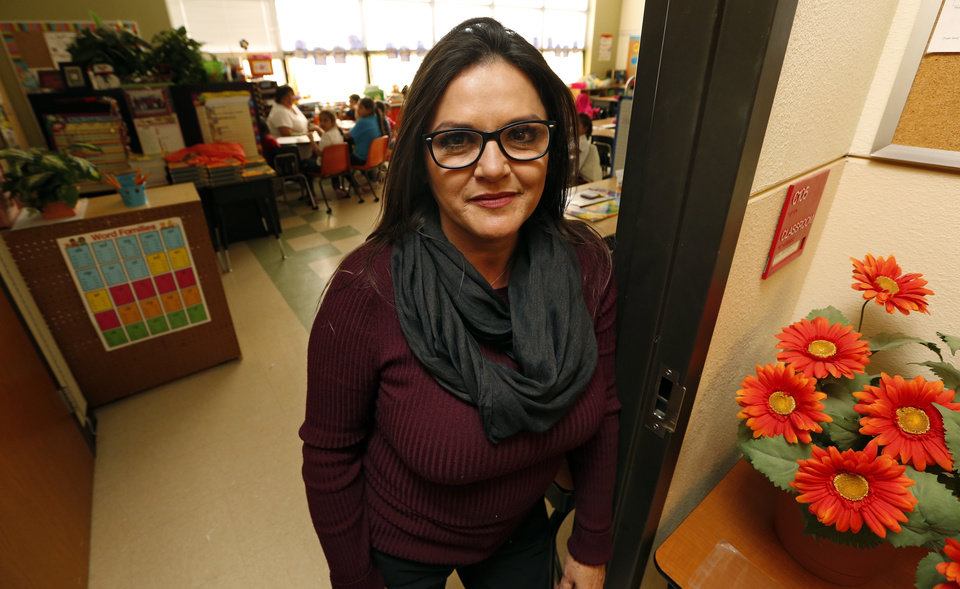 Photo -  Linda Lopez is part of the Bilingual Teacher Pipeline Project at Hawthorne Elementary School on Wednesday, Jan. 13, 2016 in Oklahoma City, Okla. Photo by Steve Sisney, The Oklahoman