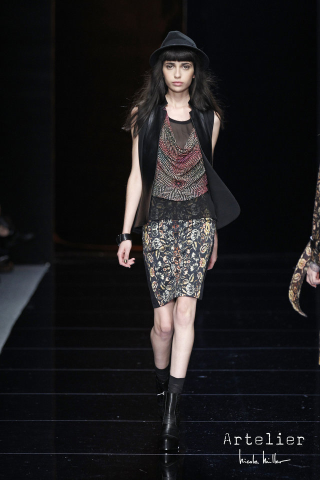 Photo - Mixed prints were popular on the Fall 2013 Fashion Week runways. Photo provided.  DAN & CORINA LECCA