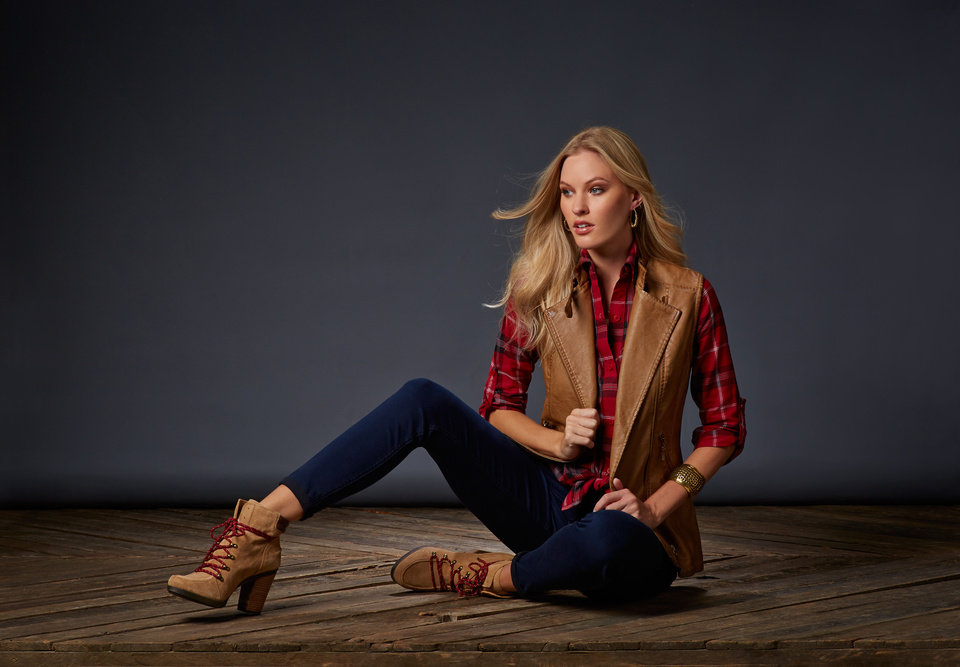 Photo - The fashion world is mad for plaid this fall. Photo provided by Dillard's.