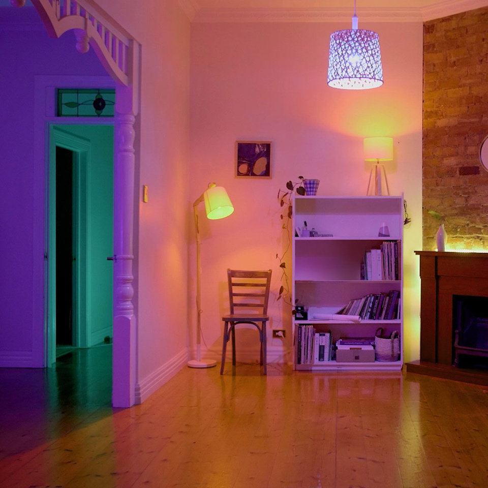Photo -  Imagine what the 1980s would have been like with these LED smart lights from LifX. They let you control the color and brightness of the lights in your home from your phone. [PHOTOS PROVIDED BY LIFX]