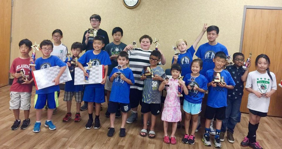 Photo -  Members of the Norman Chess Club have ended their 2016-17 season. [Photo provided]