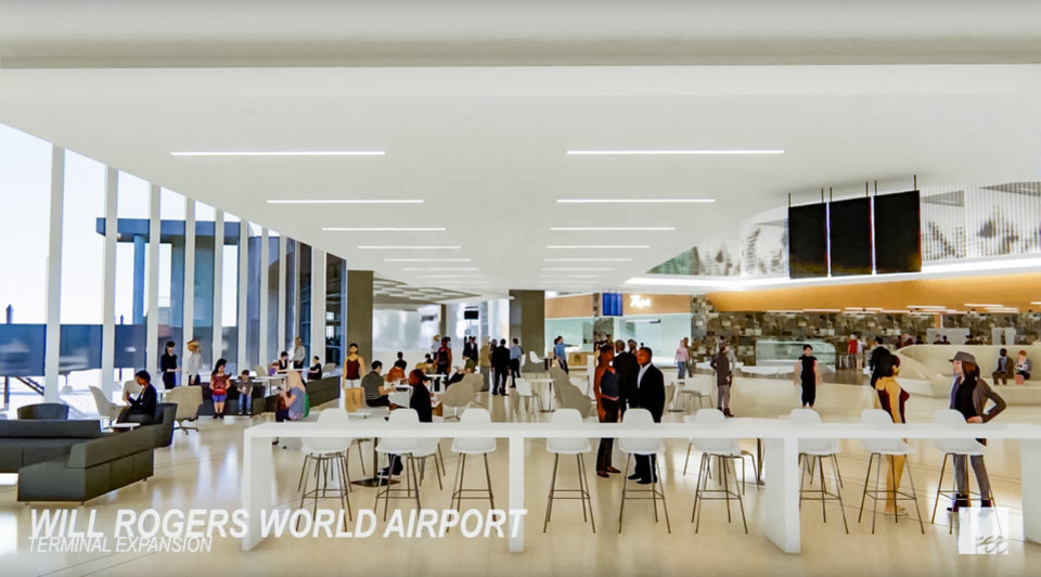 Photo - Artist renderings of the Will Rogers World Airport Terminal Expansion Project in Oklahoma City, Okla. on Friday, March 29, 2019. Provided Photo