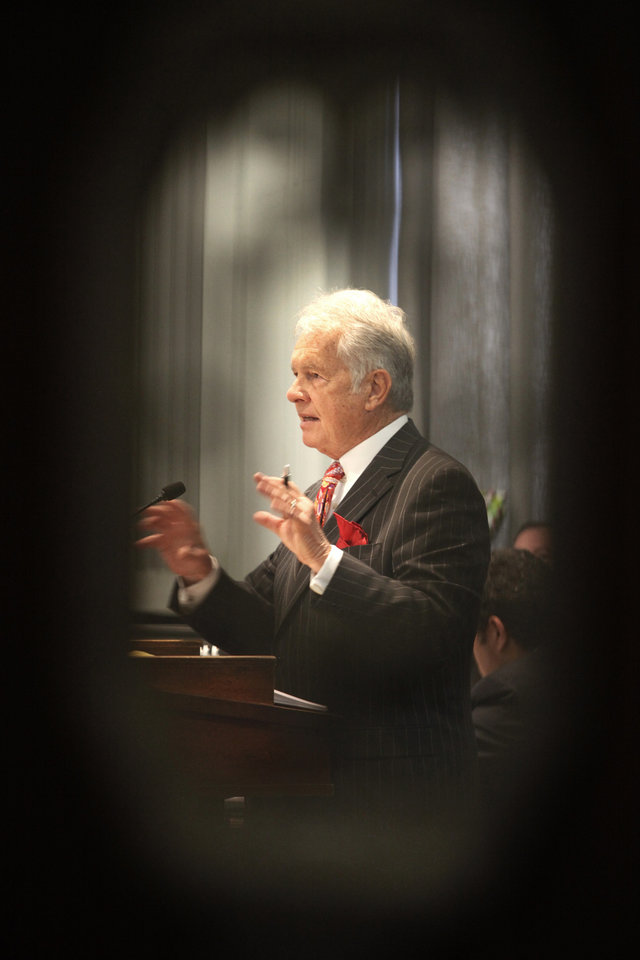 Photo - Defense attorney Irven Box gives closing arguments in the Jerome Ersland Trial in Oklahoma City, Oklahoma , Thursday, May 26, 2011. Photo by Steve Gooch, The Oklahoman