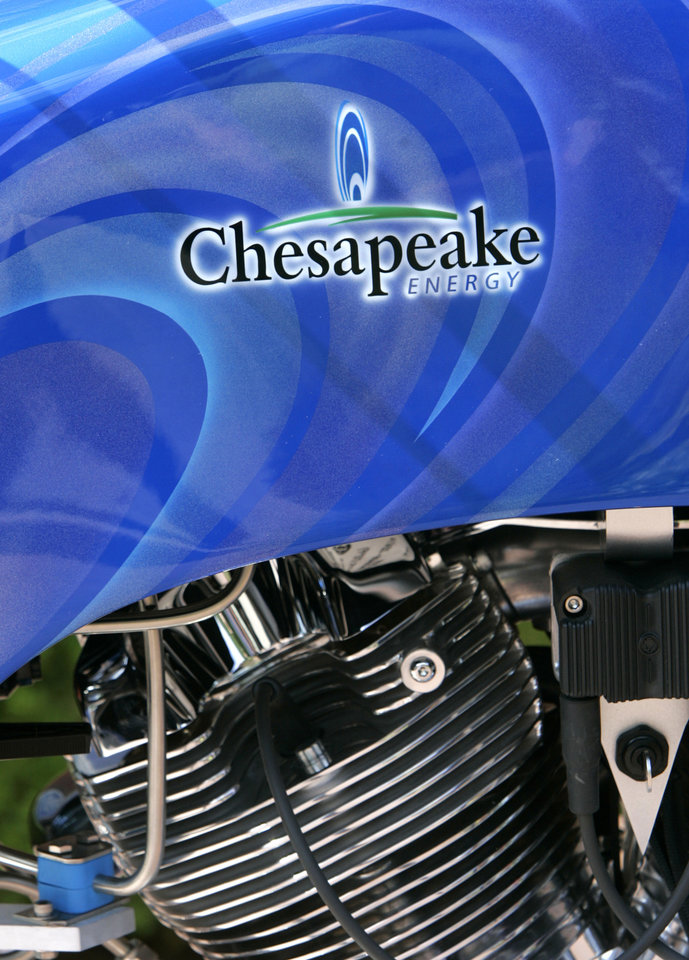 Photo - COMPRESSED NATURAL GAS / MOTORCYCLE: The Chesapeake CNG Chopper built by Orange County Choppers on the Chesapeake campus in Oklahoma City, June 15, 2009.  Photo by Steve Gooch, The Oklahoman ORG XMIT: KOD
