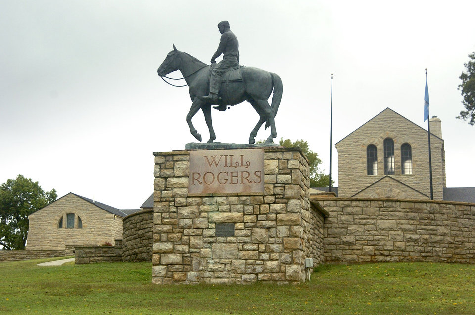Photo -  The grounds of the Will Rogers Memorial. [Photo by Paul Hellstern, The Oklahoman Archives]