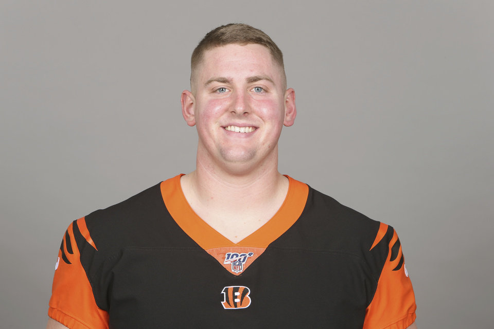 Photo - This is a 2019 photo of Brad Lundblade of the Cincinnati Bengals NFL football team. This image reflects the Cincinnati Bengals active roster as of Monday, April 22, 2019 when this image was taken. (AP Photo)