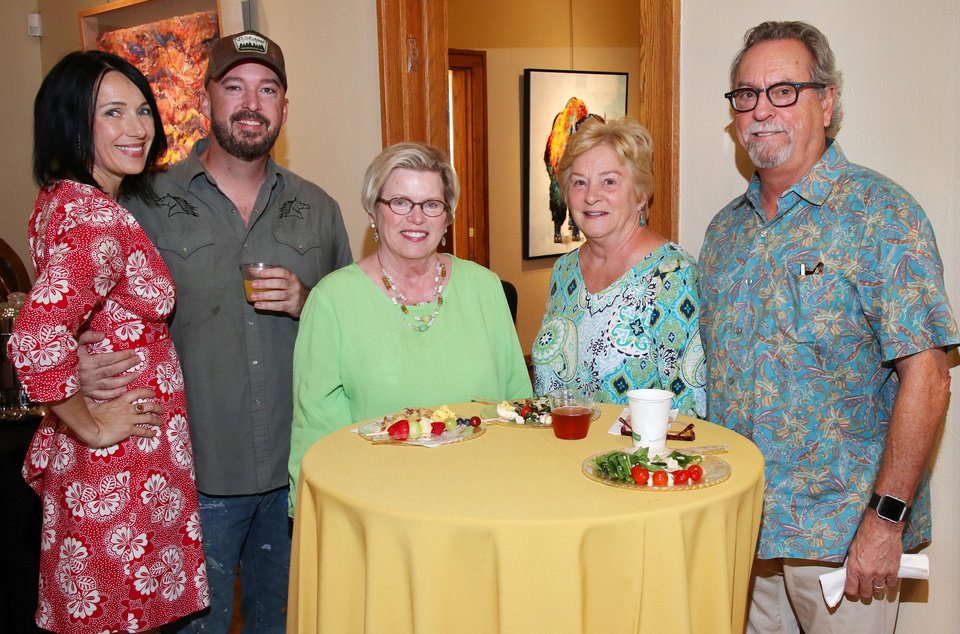 Photo - Rebecca Rutledge, Jack Fowler, Sally Bentley, Jerry and Mark Gautrdaux. PHOTO BY DOUG HOKE, THE OKLAHOMAN