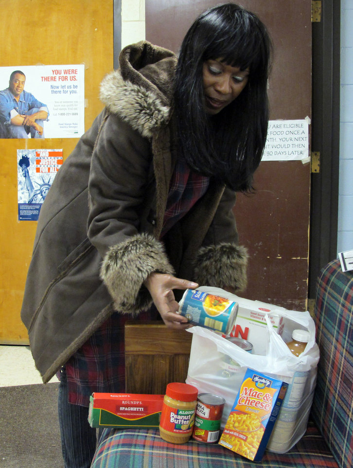 In This Nov. 16, 2011, Photo Patricia Howard Looks Through A Bag Of