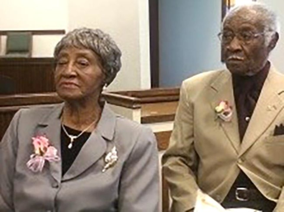 Photo -  74 years: Fannie and Eddie Lee Johnson, of Spencer, were married Sept. 11, 1946.