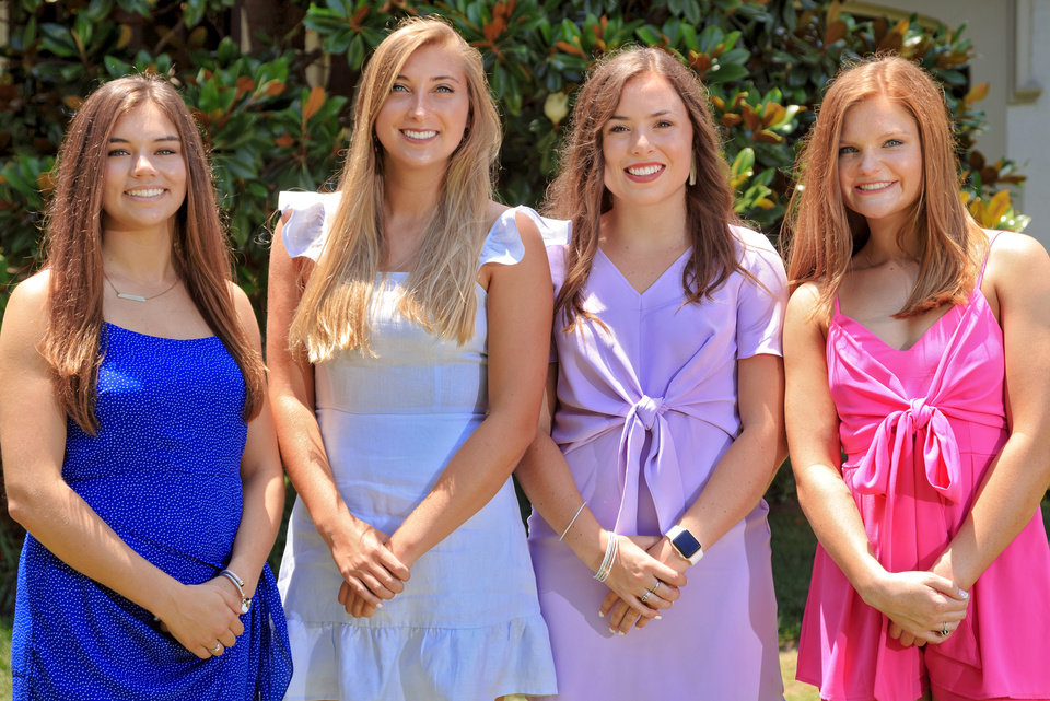 Photo - Abigail Garrett, McKenzie Carlin, Kiki Greene, Caroline Mullins. PHOTO BY CHRIS LANDSBERGER, THE OKLAHOMAN