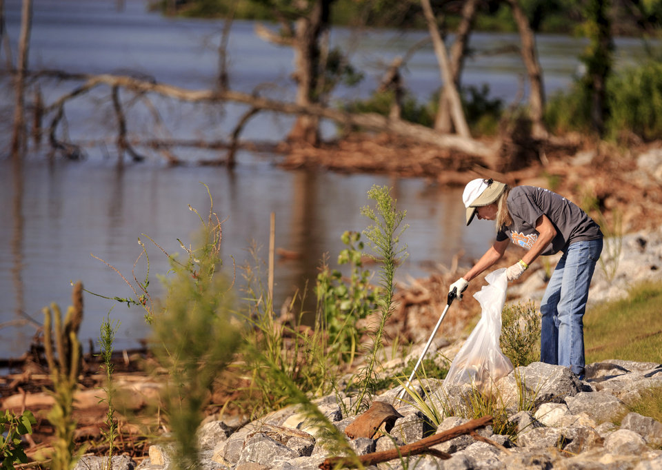 Photo -  Terry Cloud, a recently retired nurse, decided to volunteer at Arcadia Lake because she
