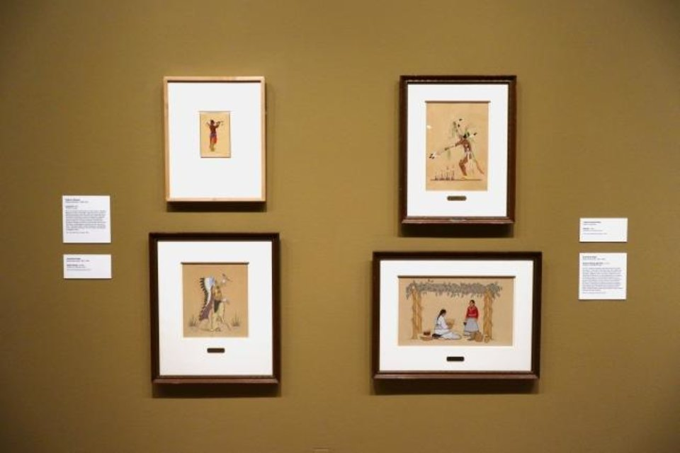 Photo -  Native American art is featured in the Oklahoma City Museum of Art's exhibit
