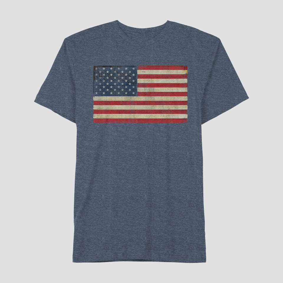 Photo - Men's Americana distressed flag T-shirt, $9.99 at Target.