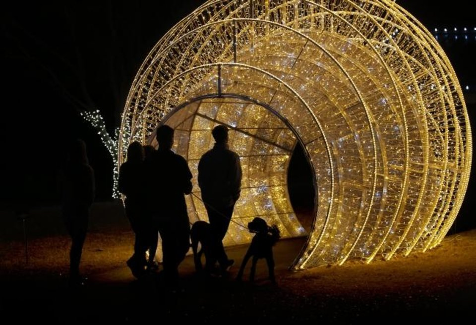 Photo -  Luminance will feature brightly lit holiday features at Mitch Park in Edmond. [SARAH PHIPPS/THE OKLAHOMAN ARCHIVES]