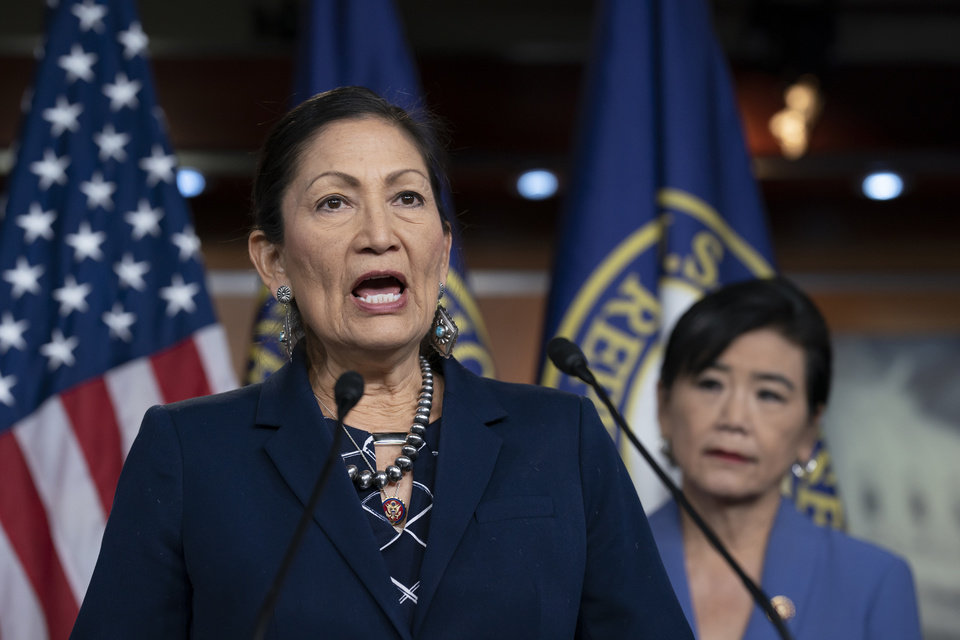 Photo -  Rep. Deb Haaland, D-N.M., is being pushed by activists to become the nation's first Native interior secretary. [J. Scott Applewhite/Associated Press File Photo]