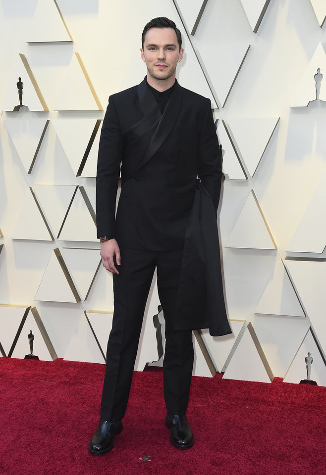 Photo -  Nicholas Hoult arrives at the Oscars on Sunday, Feb. 24, 2019, at the Dolby Theatre in Los Angeles. (Photo by Jordan Strauss/Invision/AP)