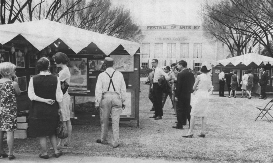Photo -  The Festival of the Arts got its start in 1967 at Civic Center Park and returned to its historic home two years ago after a long stint at the Myriad Gardens. [Oklahoman archives]