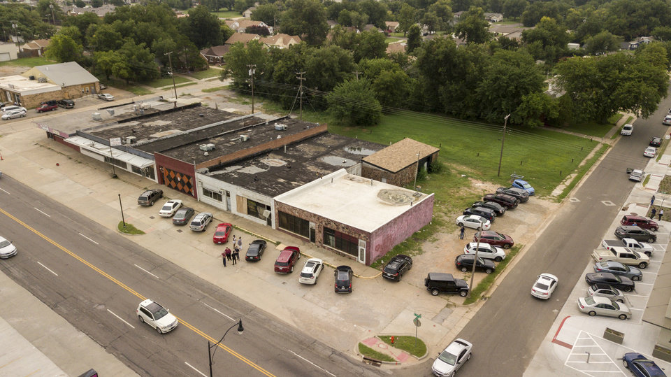 Photo -  A decade-old retail strip is set to be redeveloped into restaurants and shops as part of the EastPoint project on NE 23 and Rhode Island Ave. [Photo by David Morris, The Oklahoman]