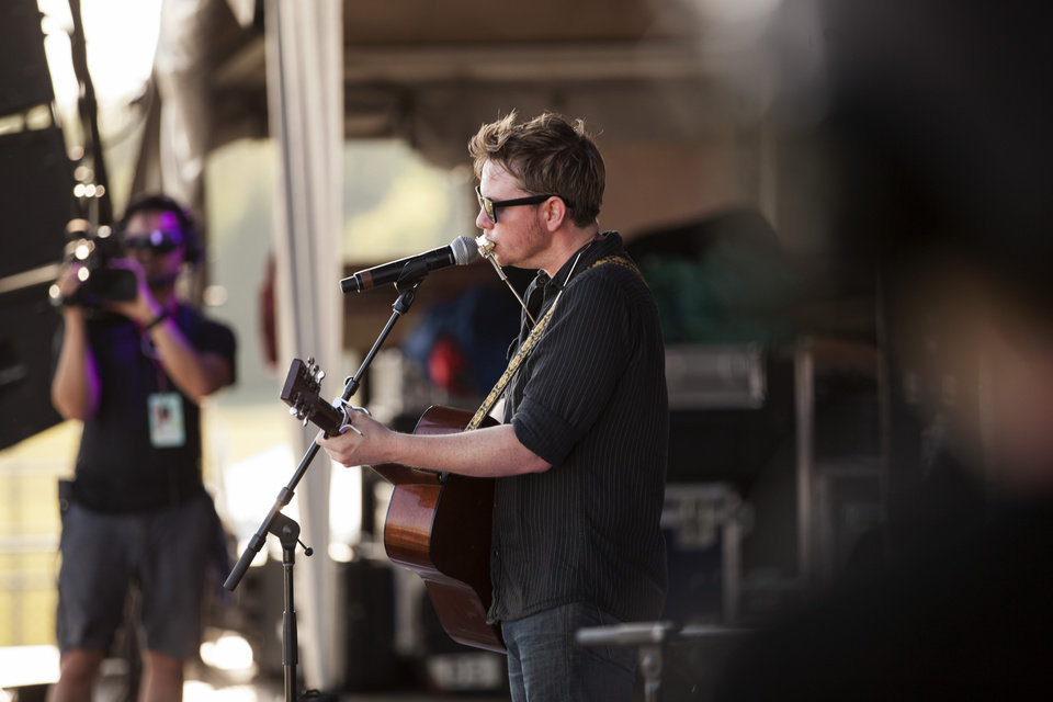 Photo -  Tulsa-based songwriter John Fullbright performs at G Fest 2017. [Photo by Nathan Poppe, The Oklahoman]