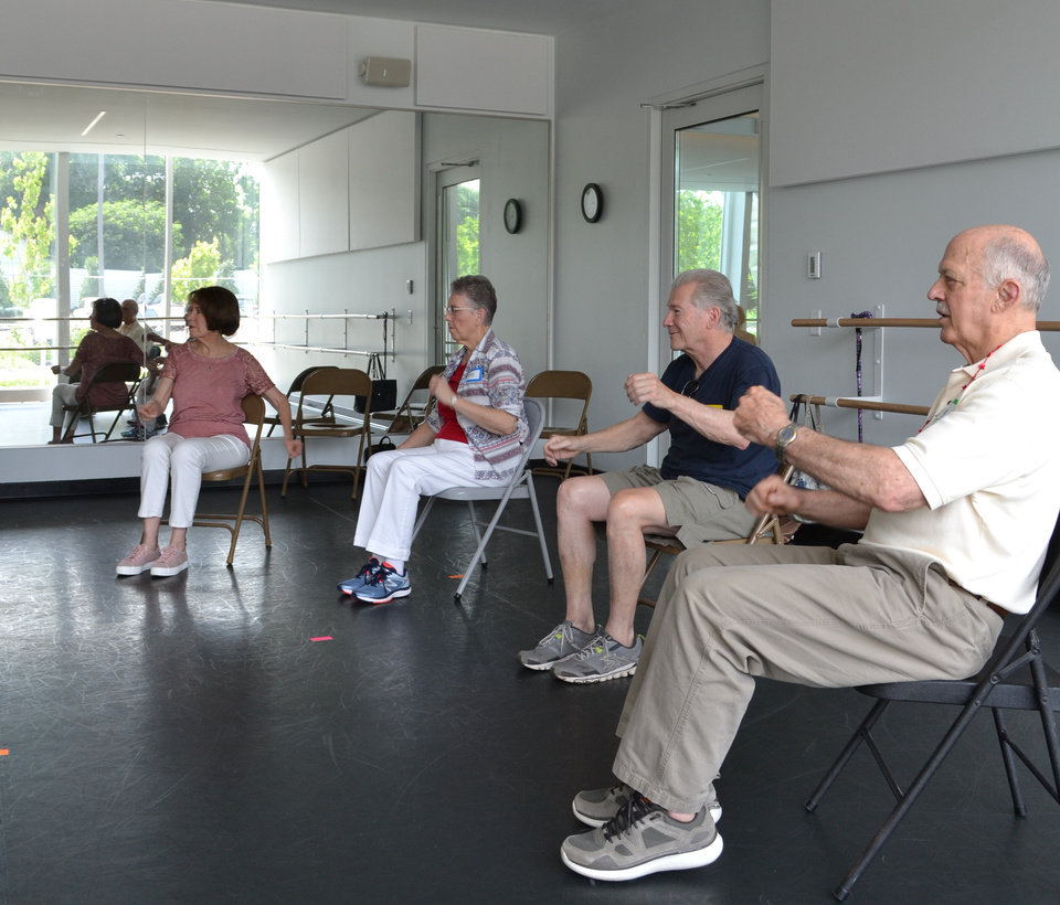 Photo - Dance for Parkinson's participants during their weekly class.  (Photo Provided)