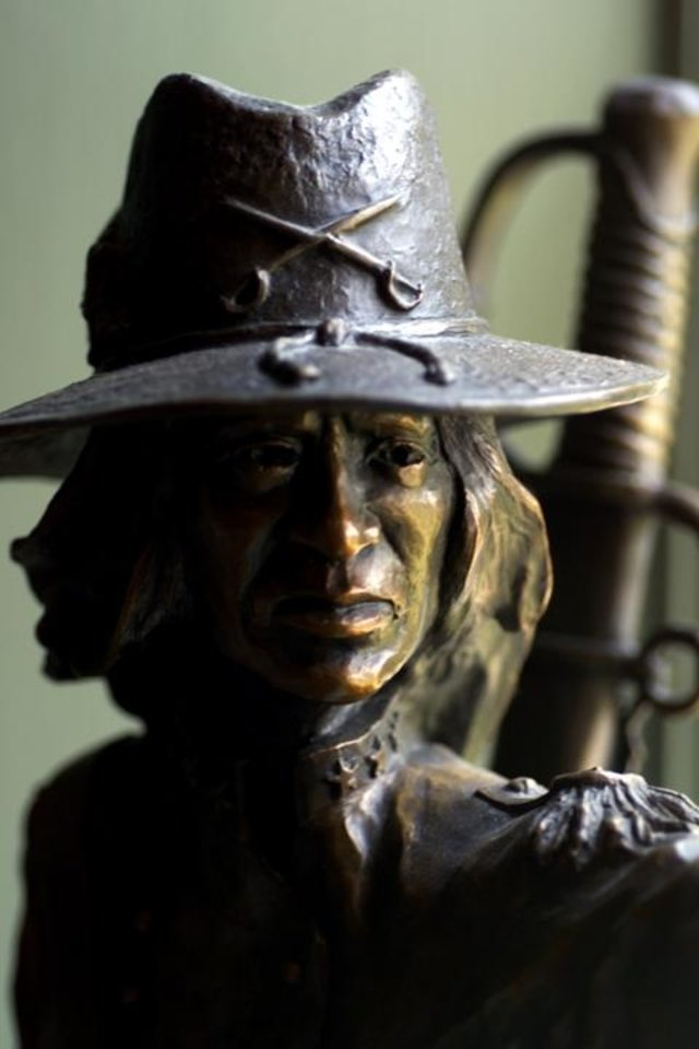 Photo - A bronze of the famous Stand Waitie is among items on display at the Five Civilized Tribes Museum in Muskogee. (STEVE SISNEY, THE OKLAHOMAN)