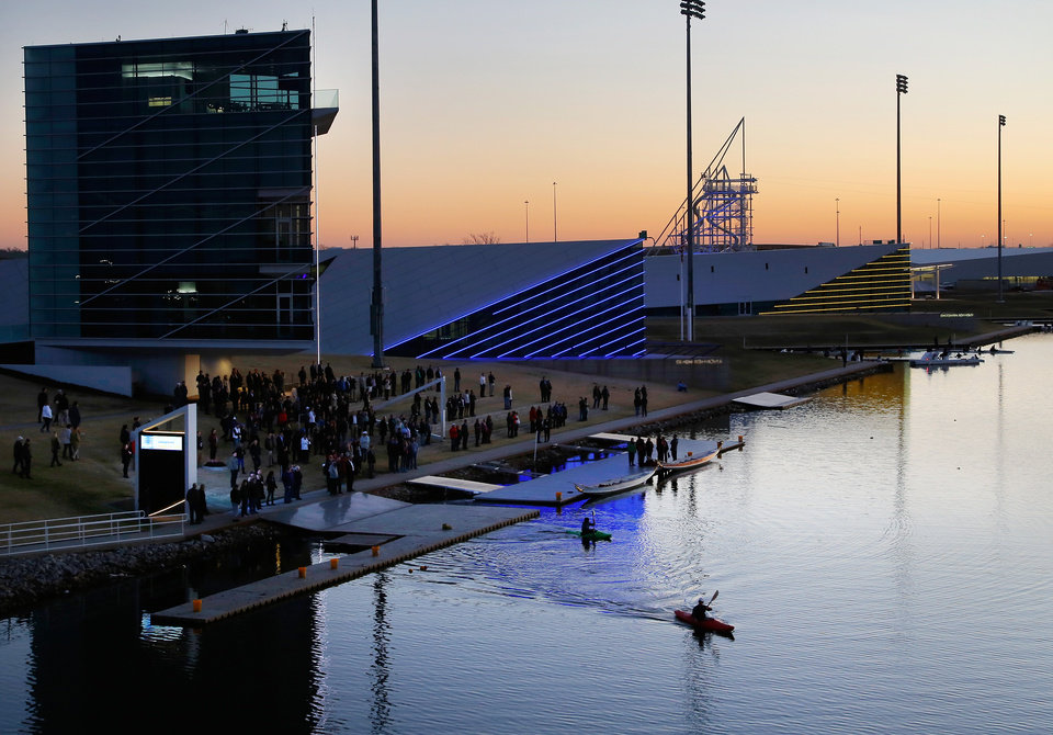Photo -  After years of adding recreational attractions to the Oklahoma River, planning is underway on how to add commercial ventures that might include restaurants and retail. [Photo by Jim Beckel, The Oklahoman]
