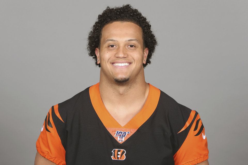 Photo - This is a 2019 photo of Jordan Evans of the Cincinnati Bengals NFL football team. This image reflects the Cincinnati Bengals active roster as of Monday, April 22, 2019 when this image was taken. (AP Photo)