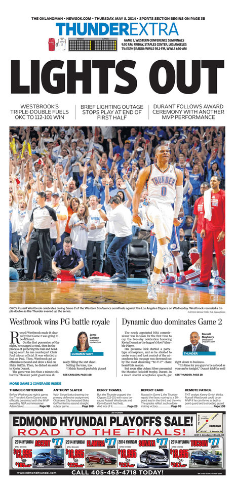Thunder Playoff Pages - Photo Gallery