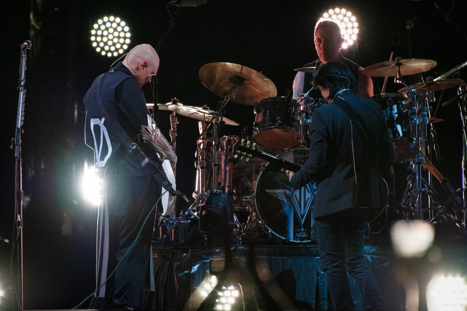Photo -  The Smashing Pumpkins perform at Chesapeake Energy Arena on July 14. [photo by Rob Ferguson]