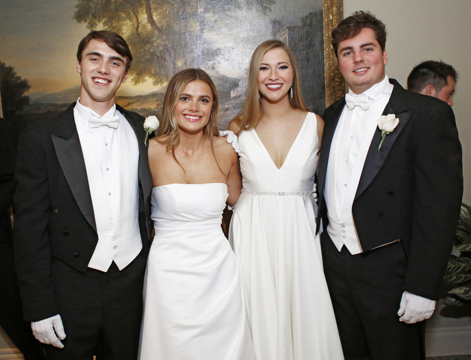 Photo - Joseph Romano, Grace Allen, Madison Baetz, Jacob Mullins.  PHOTO BY DOUG HOKE, THE OKLAHOMAN