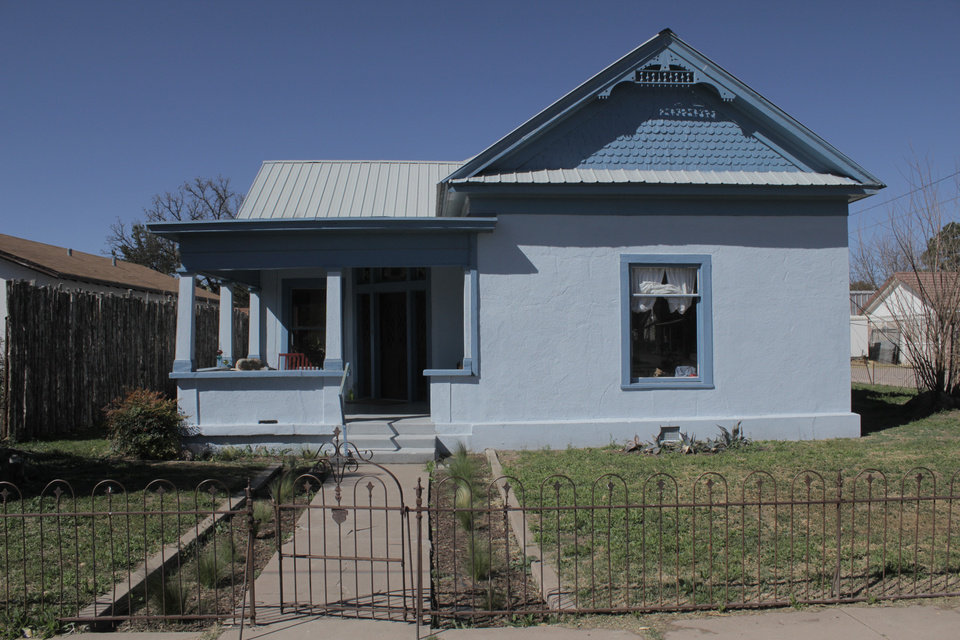 Photo -  A neighborhood just north of the Presidio County Courthouse on Sunday March 13, 2016 in Marfa, Texas. [Photo by Matt Carney, for LOOKatOKC]