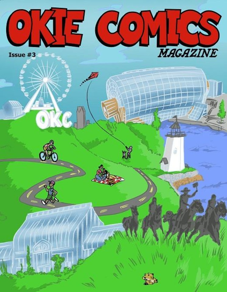 Photo -  The cover of issue #3 of Okie Comics, drawn by Kent Clark. [provided by Okie Comics]