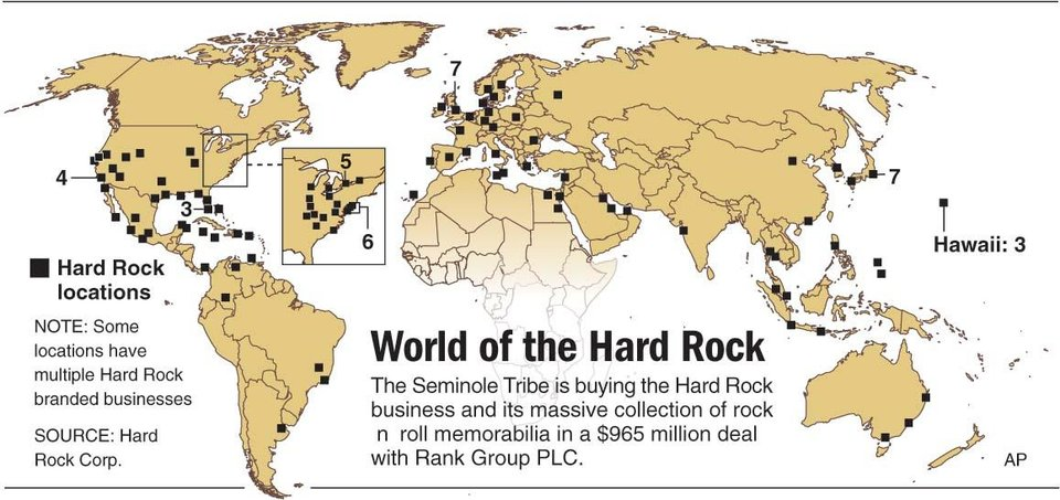 Hard Rock Cafe Locations Map