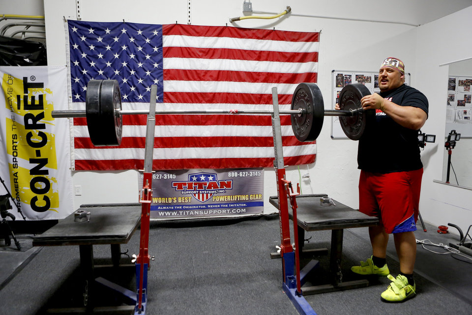 Record holder blaine sumner trains in okc for upcoming world