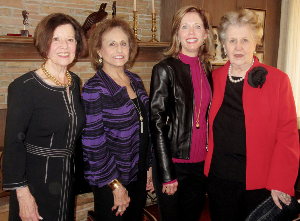 Photo - Virginia Meade, Mary Ann Harroz, Cindy Riesen, Shirley Blaik. PHOTO BY HELEN FORD WALLACE