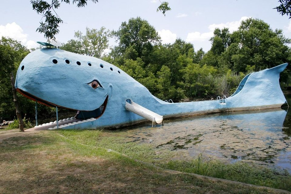 Photo - Blue Whale in Catoosa is a Route 66 landmark. [The Oklahoman Archives]