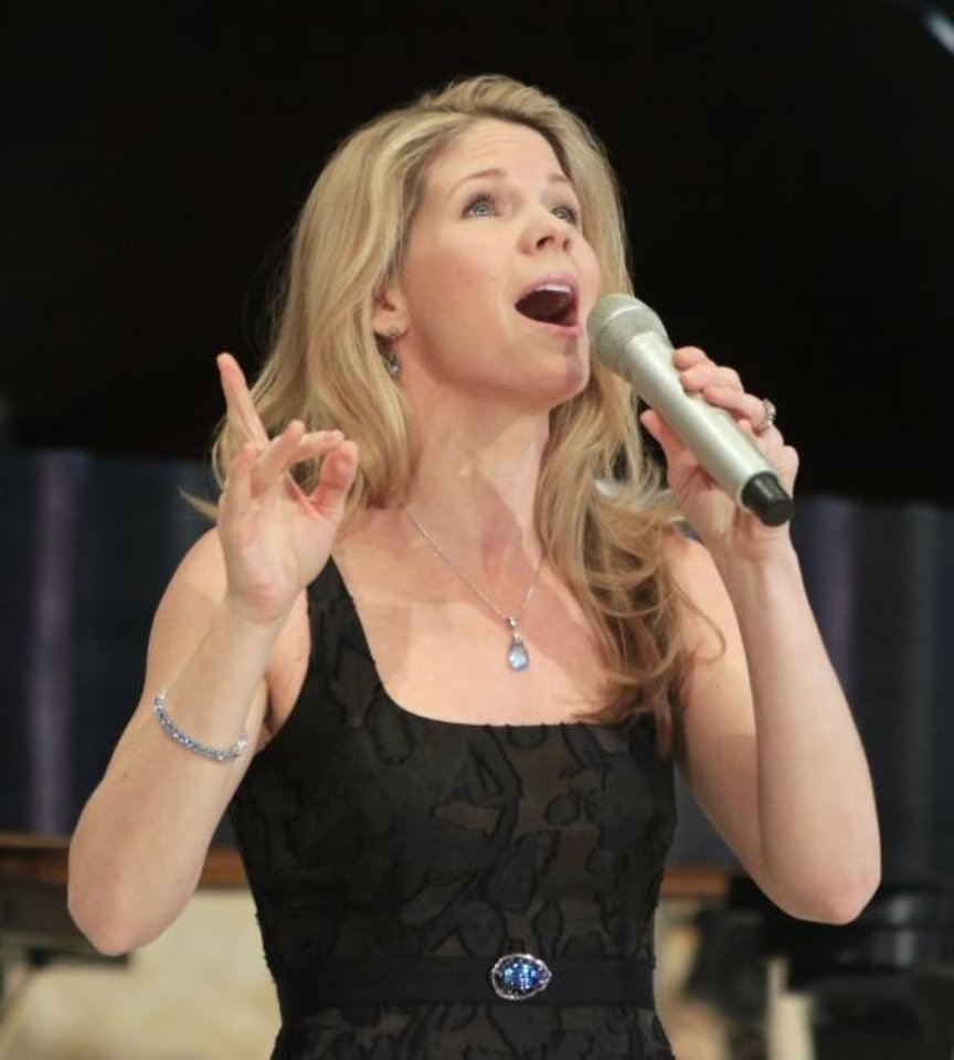 Photo -  Tony Award winner Kelli O'Hara sings during the 2015 Esther Women luncheon at St. Luke's United Methodist Church in Oklahoma City. [Oklahoman Archives photo]