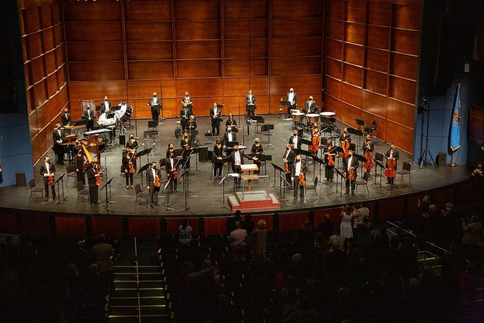 Photo - The Oklahoma City Philharmonic performs an October concert. [Heather Hanson photo]