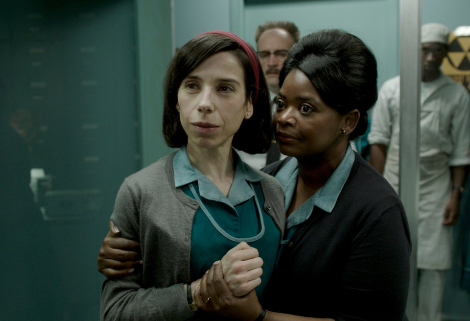 Photo -  Sally Hawkins, left, and Octavia Spencer in