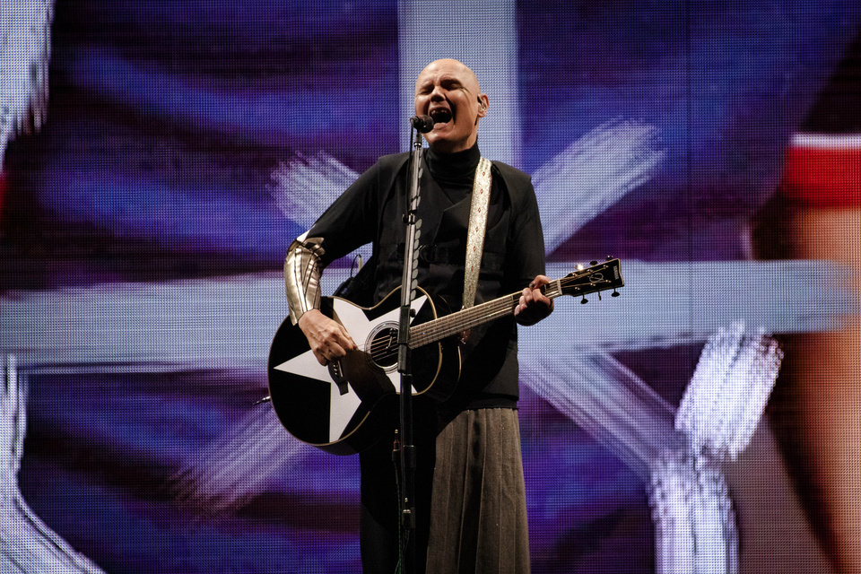 Photo -  Billy Corgan of the Smashing Pumpkins performs at Chesapeake Energy Arena on July 14. [photo by Rob Ferguson]