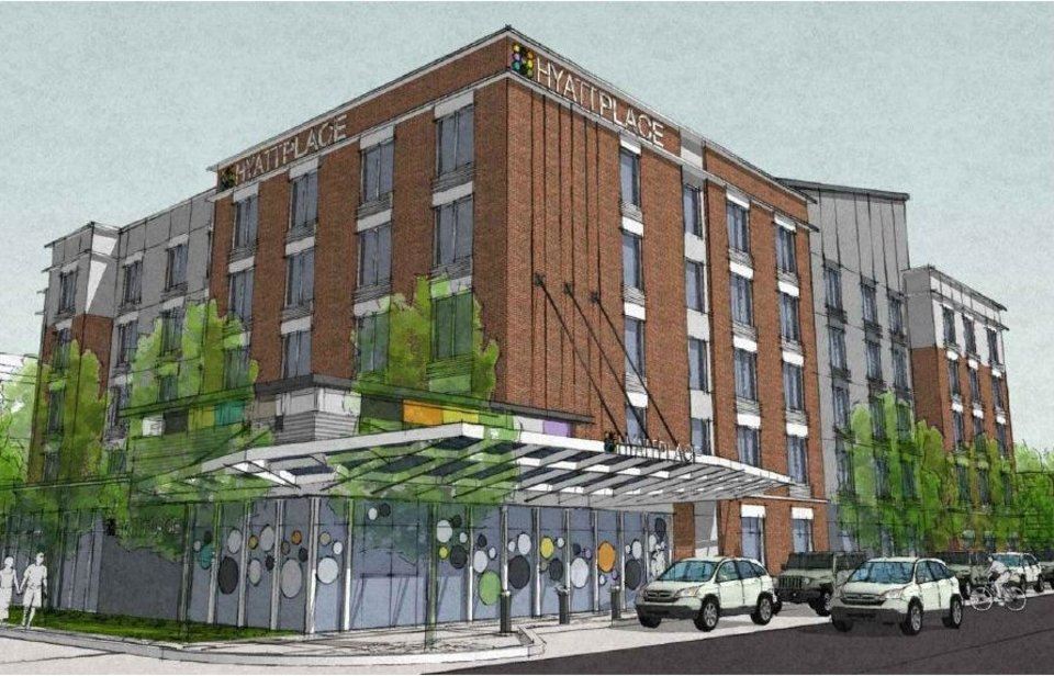 oklahoma city 39 s east bricktown to house two new hotels. Black Bedroom Furniture Sets. Home Design Ideas