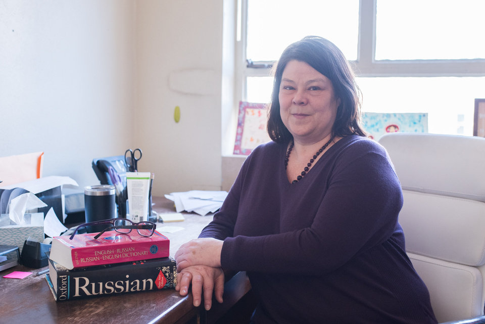 Photo -  University of Oklahoma professor Emily Johnson teaches Russian and has spent extensive time in the country itself both when it was the Soviet Union, and after the end of communism. [Photo Provided]